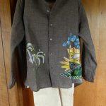 ★[シャツ]ギマアロハ刺繍シャツ、リネンデニムパンツ(45R)