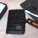 ★[財布]二つ折り財布 メンズ CROCO クロコ ブラック(ヘッドポーター)