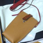 ★[ポシェット]Pocket ライトキャラメル/ピーカンカラー & カードケース パズル(ロエベ)